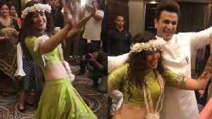Yuvika Chaudhary & Prince Narula Dance together in Mehendi Ceremony; Must Watch | FilmiBeat [Video]
