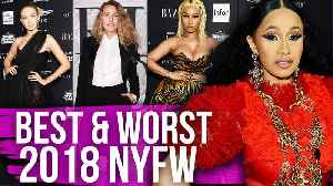 Best & Worst Dressed New York Fashion Week 2018 (Dirty Laundry) [Video]