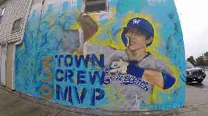 News video: Milwaukee Creates One-of-a-Kind Christian Yelich Mural Ahead of NLCS