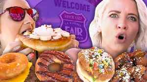 12 Craziest Foods at the LA County Fair! [Video]