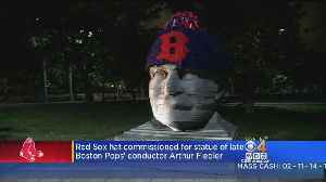 Boston Arthur Fiedler Sculpture Decorated With Red Sox Hat To Celebrate Win Over Yankees [Video]