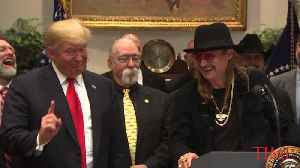 Kid Rock Visits the White House as Trump Signs Royalty Bill [Video]