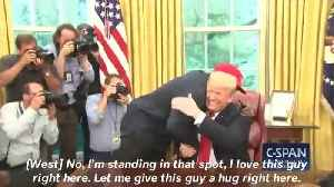 News video: President Trump Hugs Kanye West At The White House