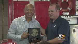 Yankee Great Mariano Rivera Teaches Harlem Kids About Fire Safety [Video]