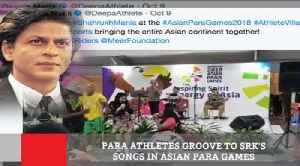 Para Athletes Groove To Srk's Songs In Asian Para Games [Video]