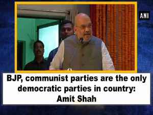 BJP, communist parties are the only democratic parties in country: Amit Shah [Video]