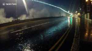 Strong winds and waves hit Cornish coast [Video]