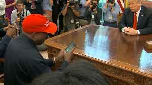 Kanye West Accidentally Reveals '000000' Phone Password During White House Visit [Video]