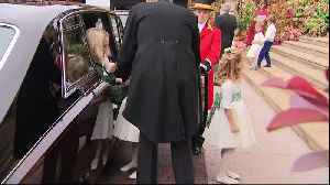 Bridesmaids and pageboys arrive at Princess Eugenie wedding [Video]