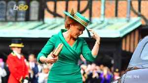 Internet Asks Why Sarah Ferguson Wore a Golden Snitch on Her Head to Her Daughter's Wedding [Video]