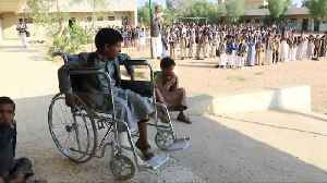Yemen school bus strike survivors return to class [Video]