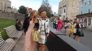 Kate Moss and daughter snapped leaving Windsor Castle after royal wedding [Video]