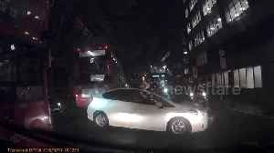 Moment 'Uber driver' collides with cyclist in busy Central London road [Video]