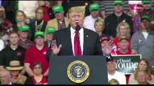 President Trump talks trade deals and military strength in Council Bluffs [Video]