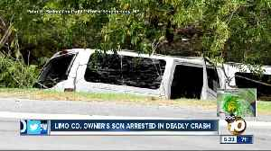 Limo company owner's son arrested in crash [Video]