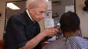 This 107-Year-Old Is the World's Oldest Barber [Video]