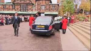 News video: Right Now: Jack Brooksbank arrives for his wedding to Princess Eugenie