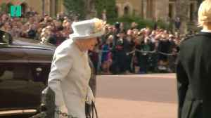 The Queen And Fellow Royals Arrive For Eugenie's Wedding [Video]