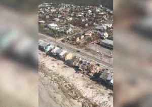 Helicopter Crew Assess Hurricane Damage at Panama City Beach [Video]