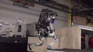 News video: Boston Robotics: Atlas robot parkour