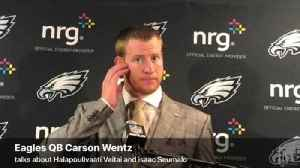 VIDEO: Eagles QB Carson Wentz speaks after win over New York Giants [Video]