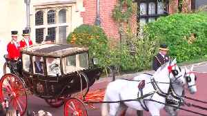 News video: Royals leave chapel after Princess Eugenie's grand royal wedding