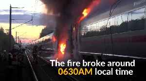 News video: German high speed ICE train catches fire, no injured