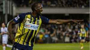 News video: Usain Bolt, Aspiring Soccer Player, Scores Two Goals In His First Start