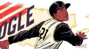News video: Baseball Legend Roberto Clemente Honored in Google Doodle