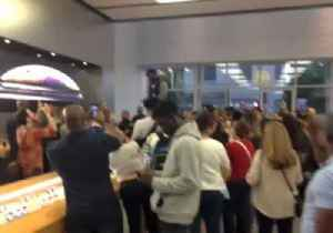 News video: Kanye West Gives Speech on Table in Georgetown Apple Store