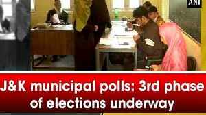J&K municipal polls: 3rd phase of elections underway [Video]