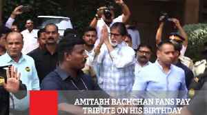 Amitabh Bachchan Fans Pay Tribute On His Birthday [Video]