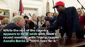 Azealia Banks Backs Kanye West's Meeting With Donald Trump [Video]