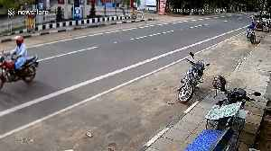 Moove out the way! Motorbike rider escapes serious injury after collision with cow [Video]
