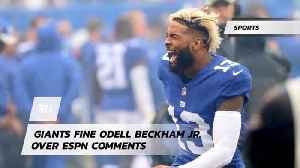 Odell Beckham JR Was Told To Tone It Down [Video]