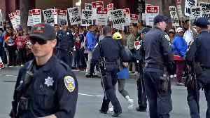 Protesting Hotel Workers Block San Francisco Streets [Video]
