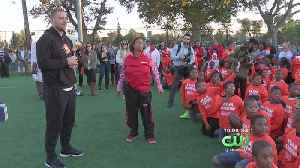 Zach Ertz Surprises Philly Youth Football Team With Donation For New Equipment [Video]