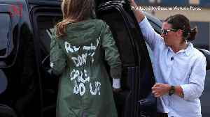 Melania Trump Reveals Why She Wore 'I Really Don't Care' Jacket [Video]