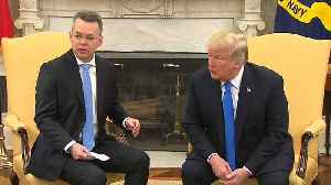 Released US Pastor in Turkey dispute meets with Donald Trump [Video]