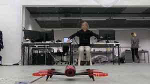Piloting a drone using your body's movements [Video]