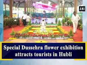 Special Dussehra flower exhibition attracts tourists in Hubli [Video]