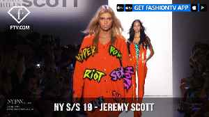 New York Fashion Week Spring/Summer 2019 - Jeremy Scott | FashionTV | FTV [Video]