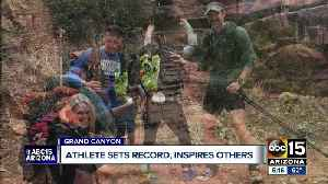 Blind woman sets Grand Canyon hike record [Video]