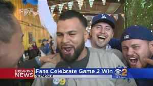 Dodgers Fans Celebrate Game 2 Win [Video]