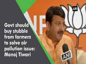 Govt should buy stubble from farmers to solve air pollution issue: Manoj Tiwari [Video]