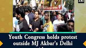 Youth Congress holds protest outside MJ Akbar's Delhi residence