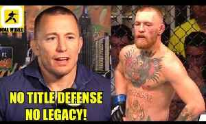 Here's the reason why you may never see Conor McGregor fíght GSP in the UFC,Luke on Yoel,Octagon [Video]