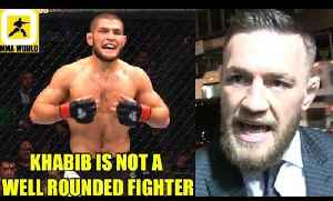 Khabib will get his head dunked and balls put on his forehead if he moves to 170,Miesha on Conor [Video]