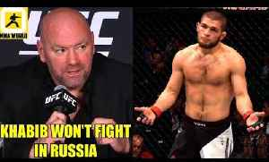 Confirmed! Khabib will not fíght on Sept 15th at UFC's first ever event in Russia,CM Punk [Video]