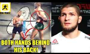 Conor Mcgregor sends a warning to Khabib by whooping his sparring partner,Mark Hunt and Wedrum [Video]